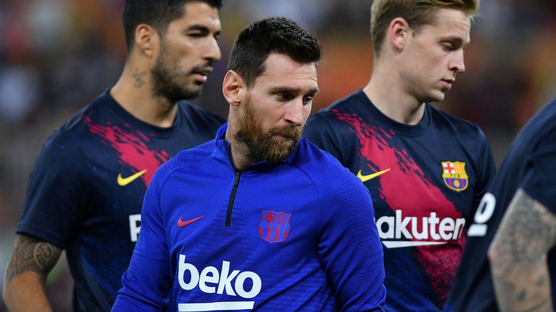 Messi, Suárez y De Jong, en una imagen de archivo. (Reuters)