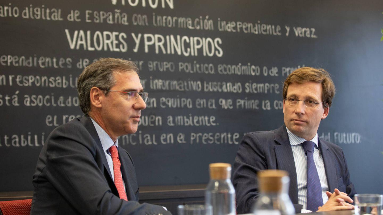 Ignacio Madridejos, nuevo consejero delegado de Ferrovial, y Martínez-Almeida, alcalde de Madrid.