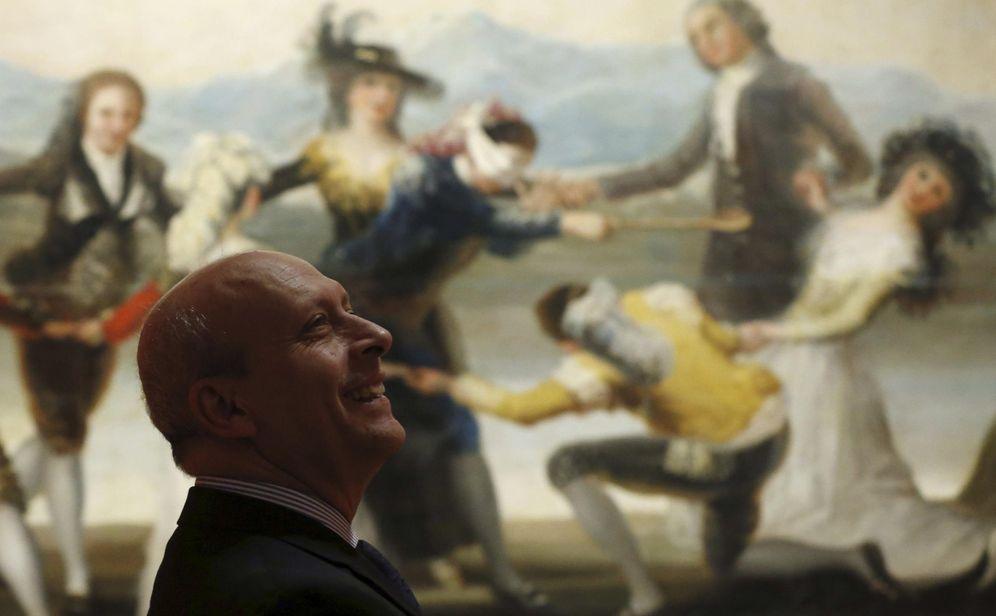 Foto: José Ignacio Wert durante la inauguración de la exposición 'Goya en Madrid', en El Prado, en noviembre de 2014. (EFE)