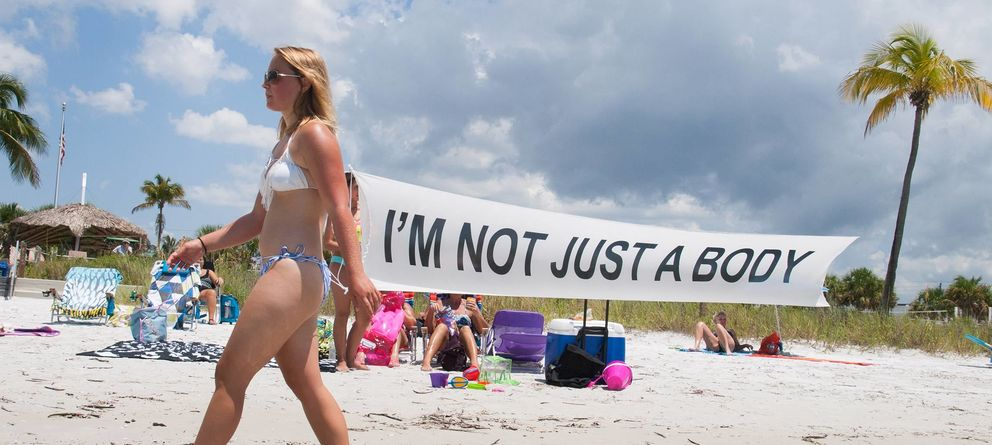 Foto: 'I'm not just a body', performance de Yolanda Domínguez
