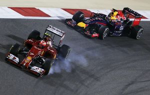 A ver cómo Sebastian Vettel y Kimi Raikkonen salen de esta…