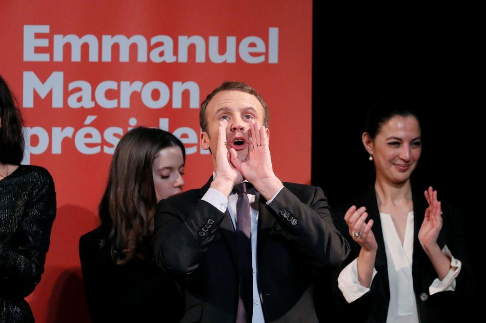 Foto: Emmanuel Macron durante un encuentro del Día de la Mujer, en París, el 8 de marzo de 2017 (Reuters).
