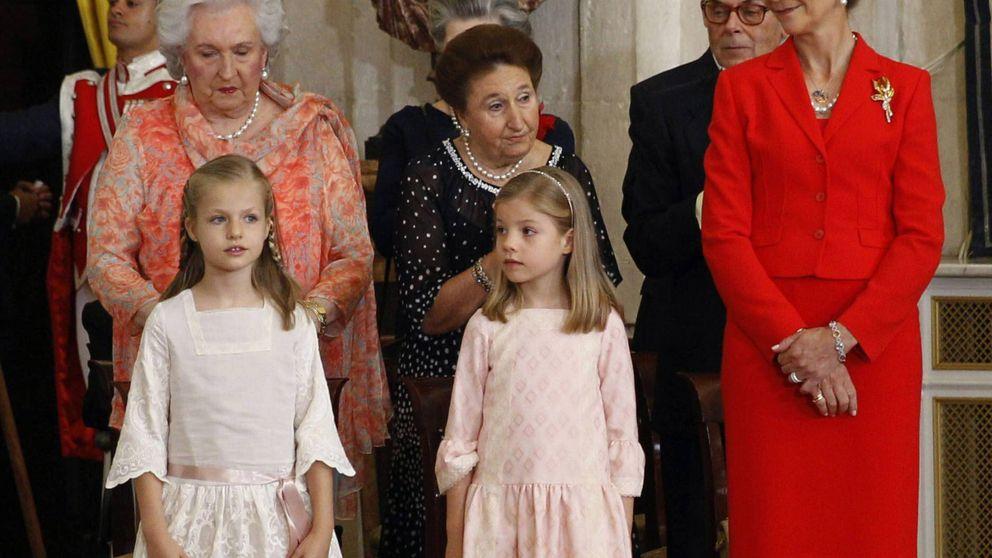 La infanta Pilar no ve a la princesa Leonor desde las pasadas Navidades
