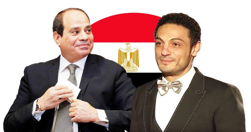 Foto: A la izquierda, el presidente de Egipto Abdelfetah al Sisi. A la derecha, el constructor y actor Mohamed Ali.