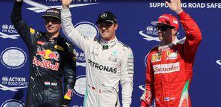 Post de Rosberg hace la pole el día que McLaren 'brilla' con Button pero no con Alonso