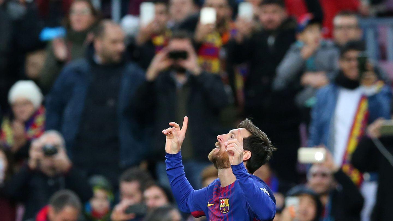 Messi marcó el primero de los tres goles del Barcelona ante el Levante este domingo. (EFE)
