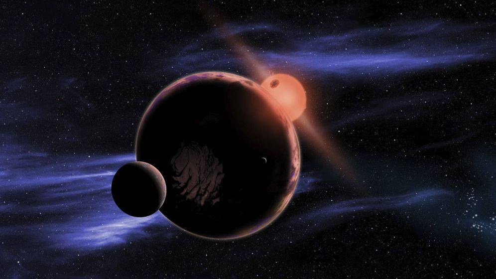 Foto: Recreación de una estrella enana roja. Foto: Northwestern University