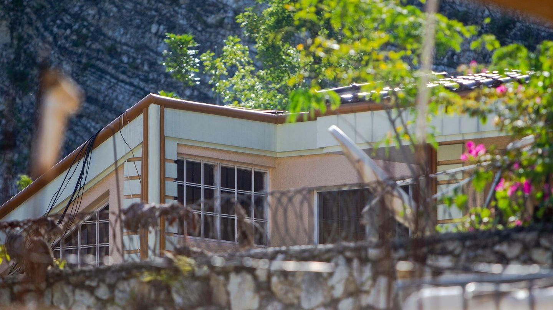 Casa del asesinado Jovenel Moïse este miércoles en Puerto Príncipe (Haití). (EFE)