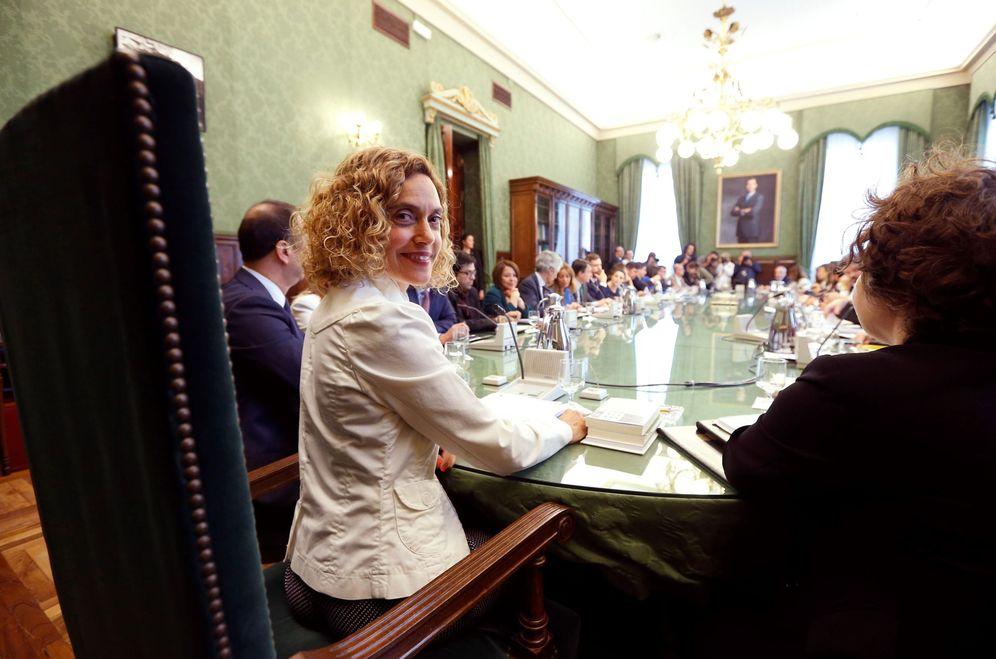 Foto: Meritxell Batet, presidenta del Congreso, durante la reunión de la Junta de Portavoces del pasado 11 de junio. (EFE)
