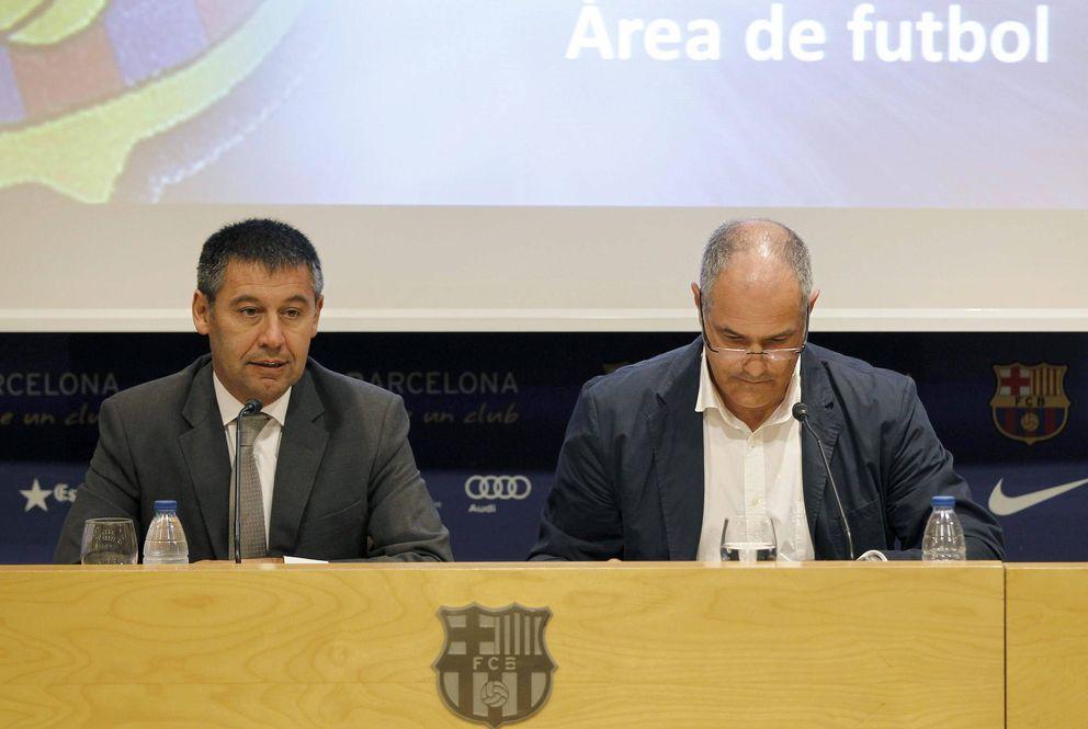 Foto: Bartomeu y Zubizarreta, durante una rueda de prensa (EFE)