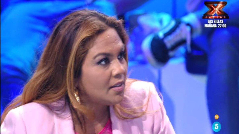 Saray, enfrentándose a Romina en 'Supervivientes 2018'. (Telecinco)