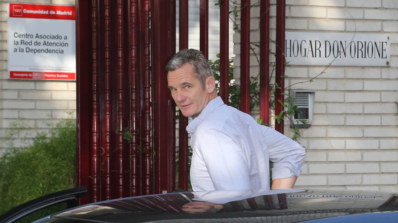Urdangarin, a su entrada a Don Orione. (José Martín)