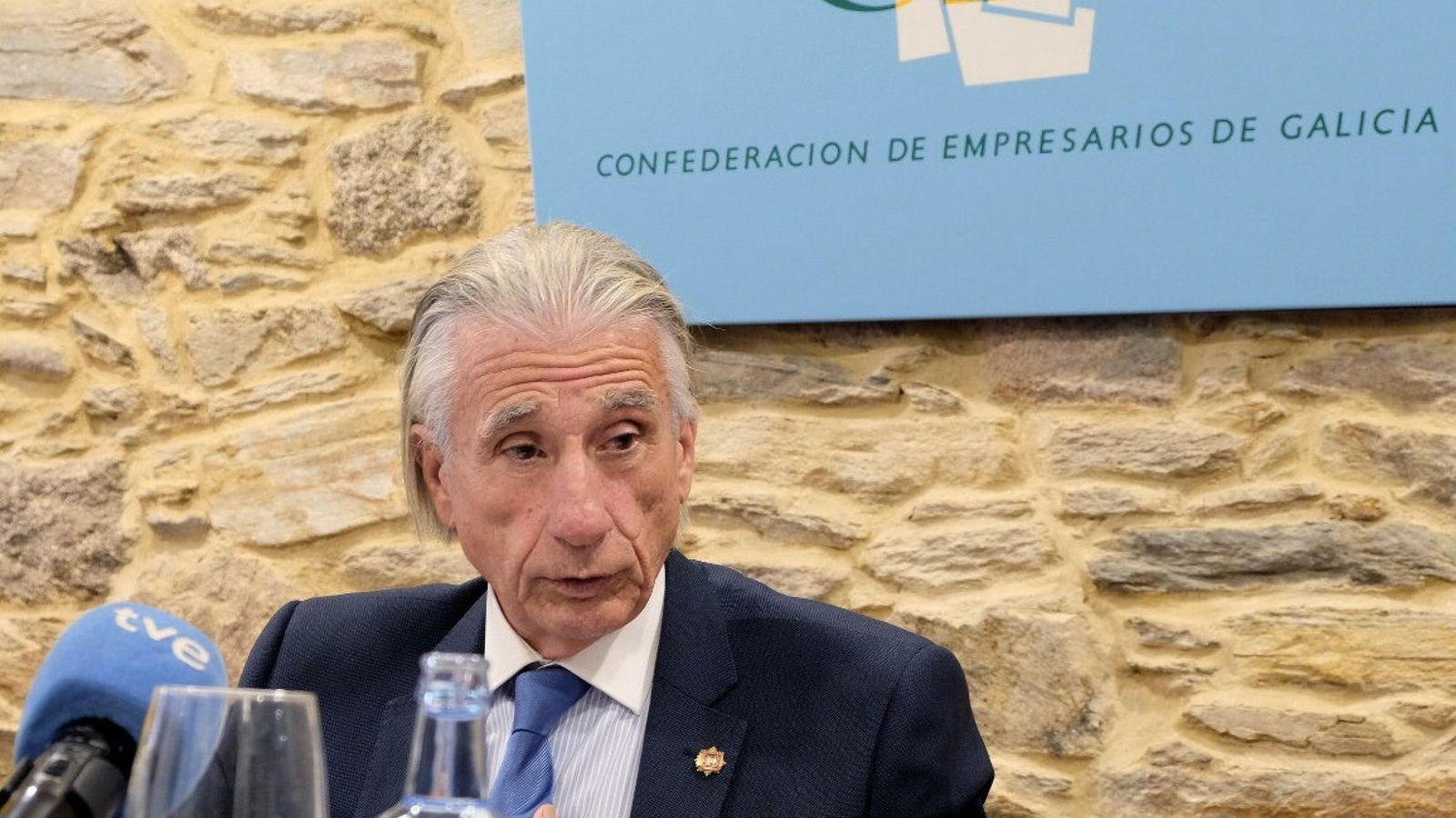 Foto: El ya expresidente de la patronal gallega, José Manuel Fernández Alvariño. (EFE)