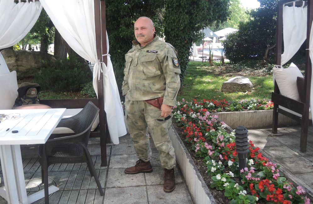 Foto: Vladimir Rusev, fundador de BNO Shipka (Movimiento Nacionalista Búlgaro Shipka). (N. Vilá)