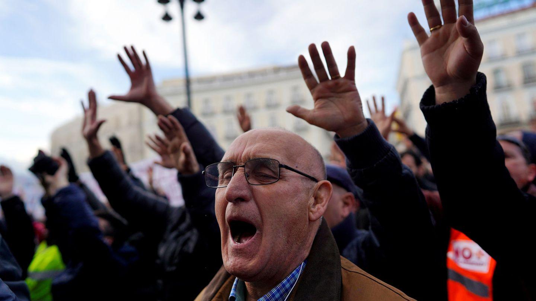 Imagen de la protesta en Sol. (Reuters)