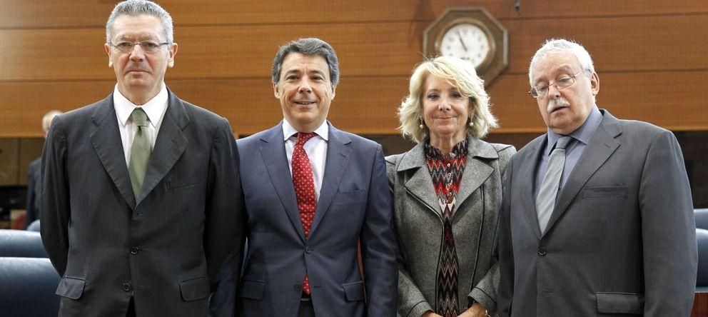 Foto: Alberto Ruiz-Gallardón, Ignacio González, Esperanza Aguirre y Joaquín Leguina (EFE)