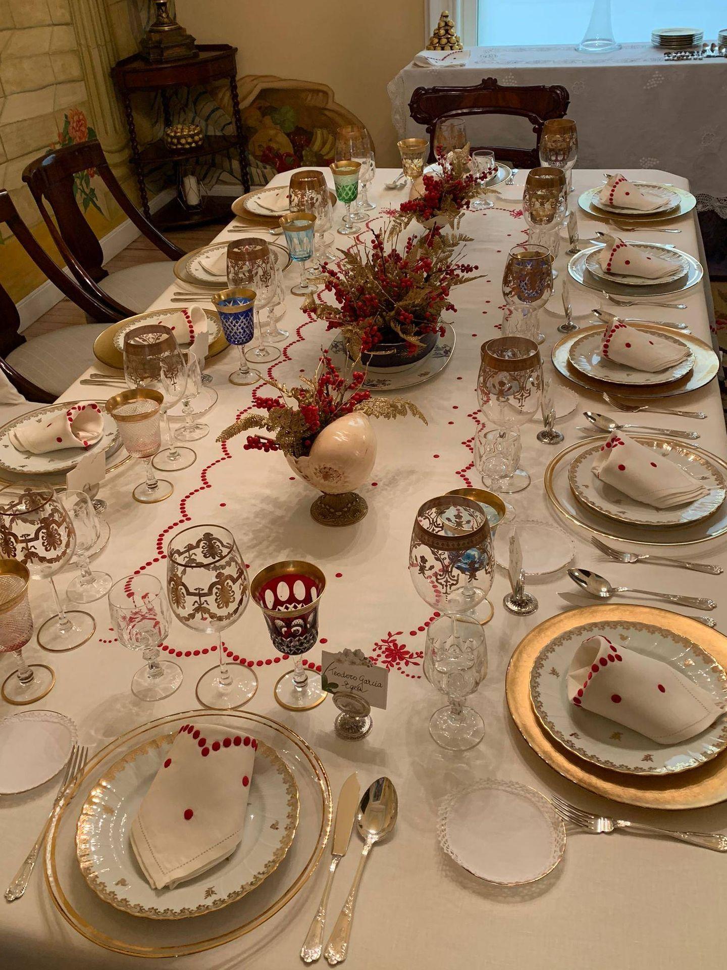 La mesa navideña de la socialite.