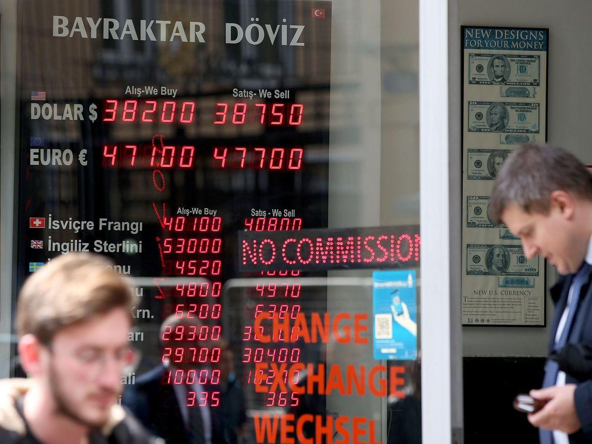 Foto: Cotización de la Lira turca