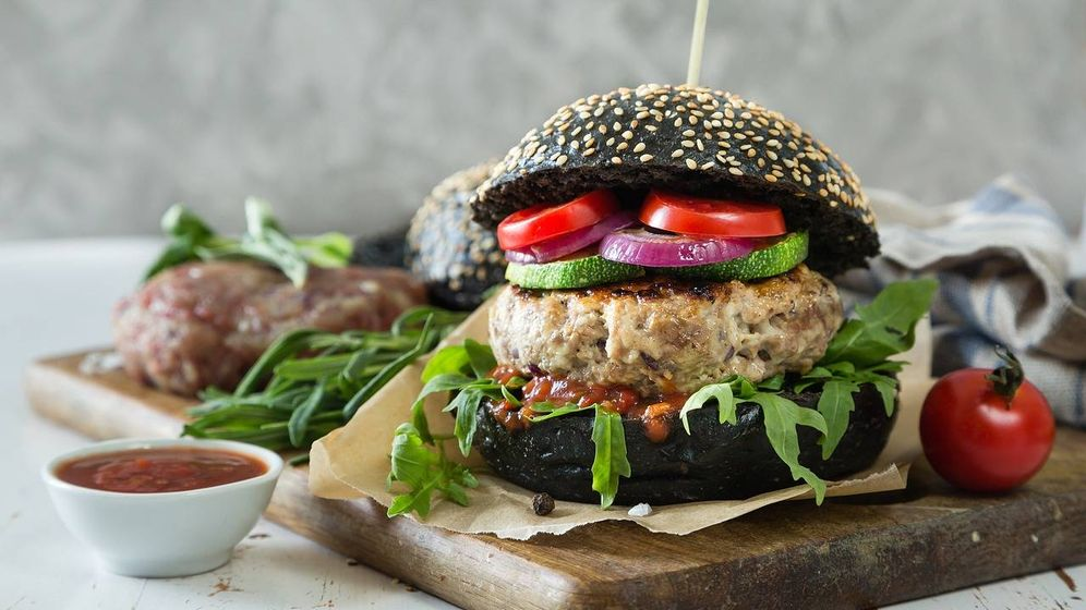 Foto: Hamburguesa vegetariana.