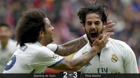 Isco saca la varita mágica para rescatar al Madrid del embrollo del Molinón