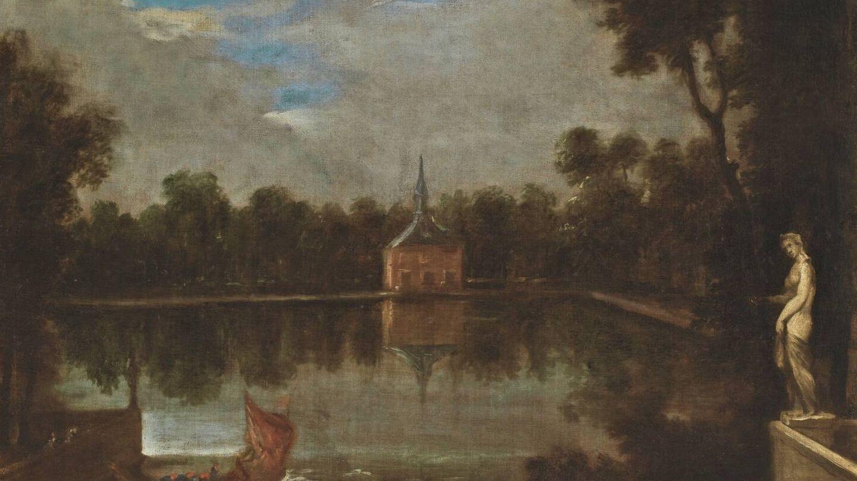 'El estanque grande del Buen Retiro', Juan Bautista Martínez del Mazo, 1657. (Museo del Prado)