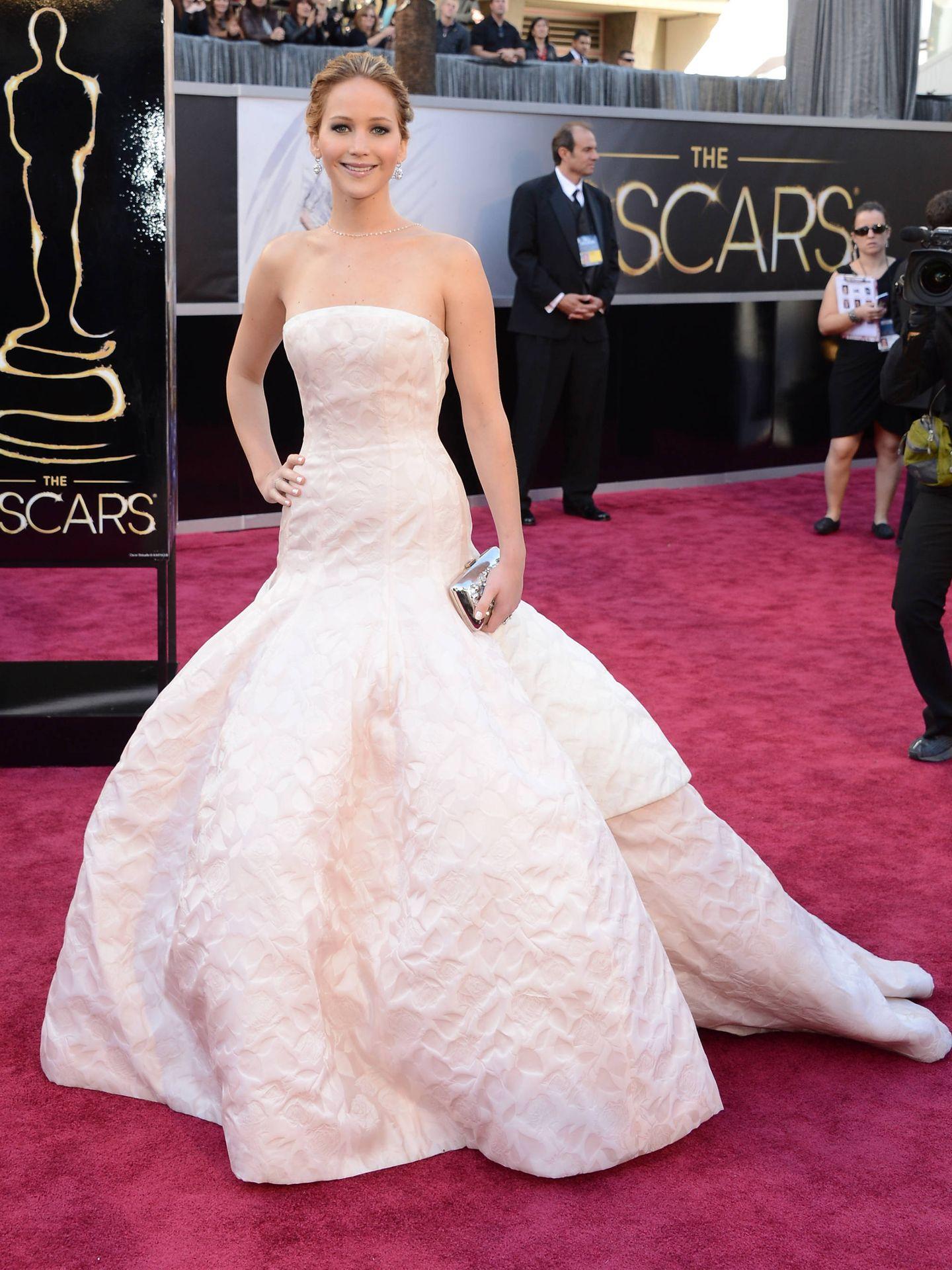 Jennifer Lawrence, en los Oscar de 2013. (Getty)