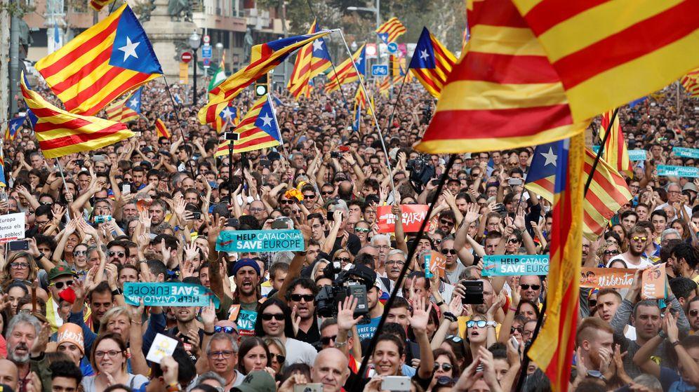 Foto: Manifestación en Barcelona a favor de la independencia de Cataluña. (Reuters)