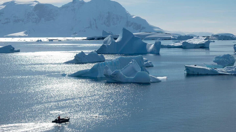 La Antártida durante 'nuestro invierno'.