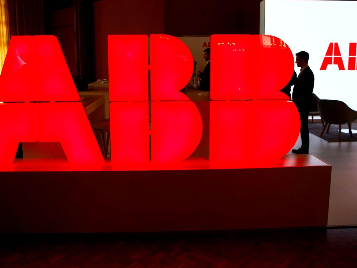 Foto: logo de ABB (Reuters)