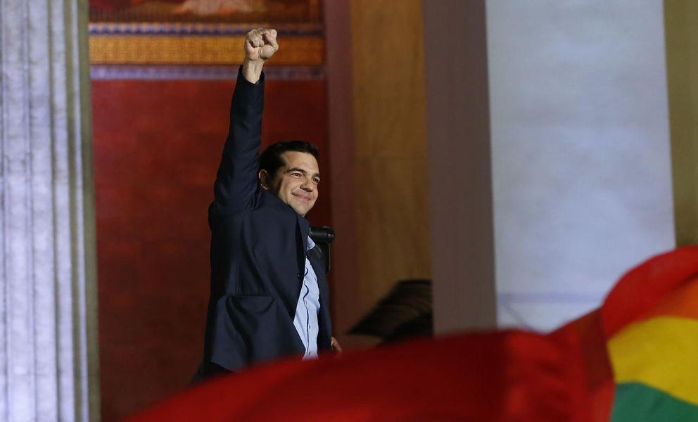 Foto: Tsipras celebra la victoria de Syriza (Marko Djurica / Reuters)