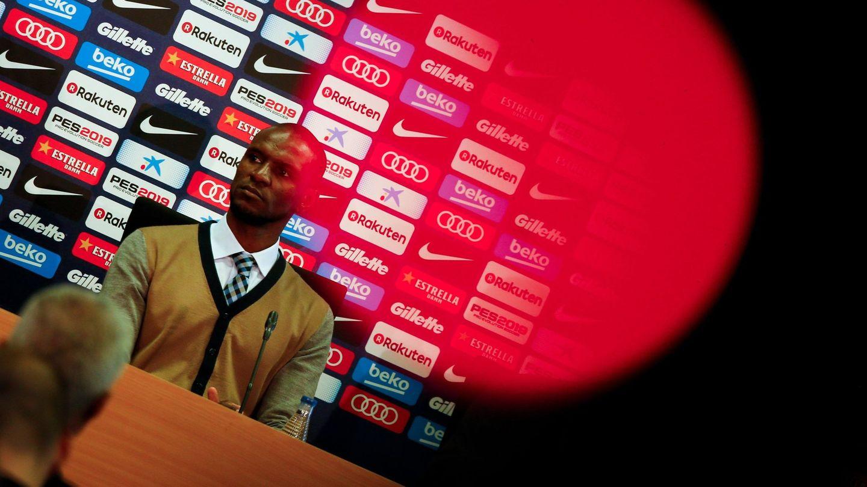 El francés Eric Abidal, presentado como nuevo secretario técnico del Barça. (EFE)