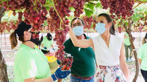 Los Reyes en Murcia: el interés de Letizia por una trabajadora y su curiosidad por las peras