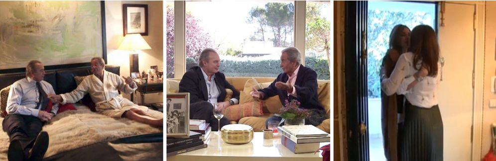 Foto: Entrevista de Bertín Osborne a Arturo Fernández y reencuentro entre Fabiola Martínez y Mariló Montero.