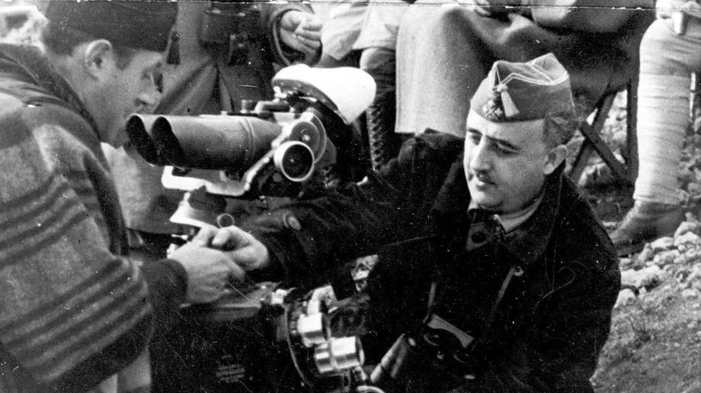 Foto: Francisco Franco en los años de la Guerra Civil.