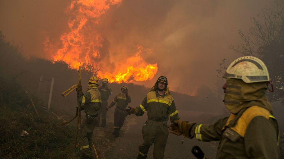 Arden 1.950 hectáreas en dieciséis incendios en Ourense y Lugo