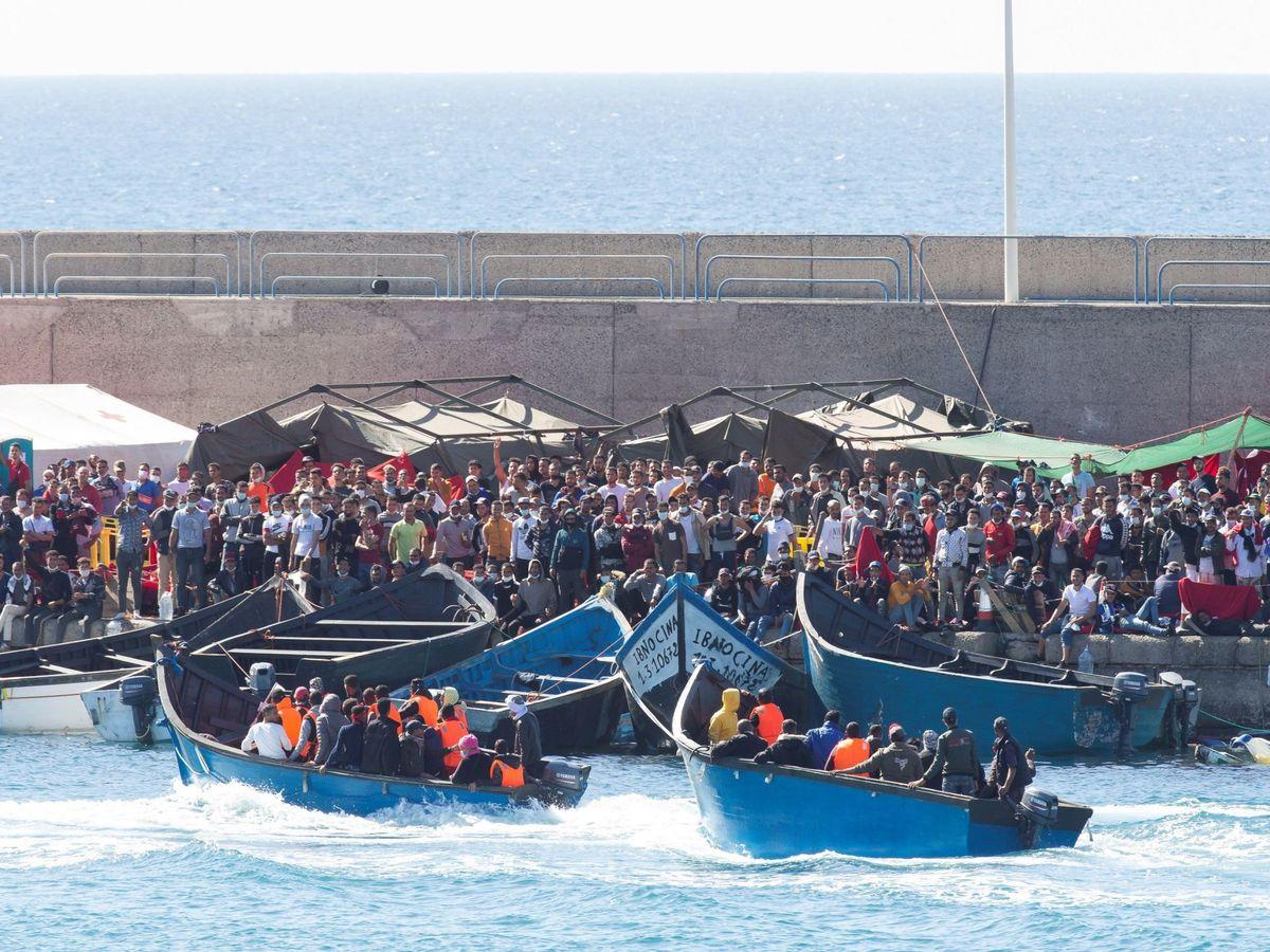 Foto: Imagen del 17 de noviembre en Arguineguín (Gran Canaria). (EFE)