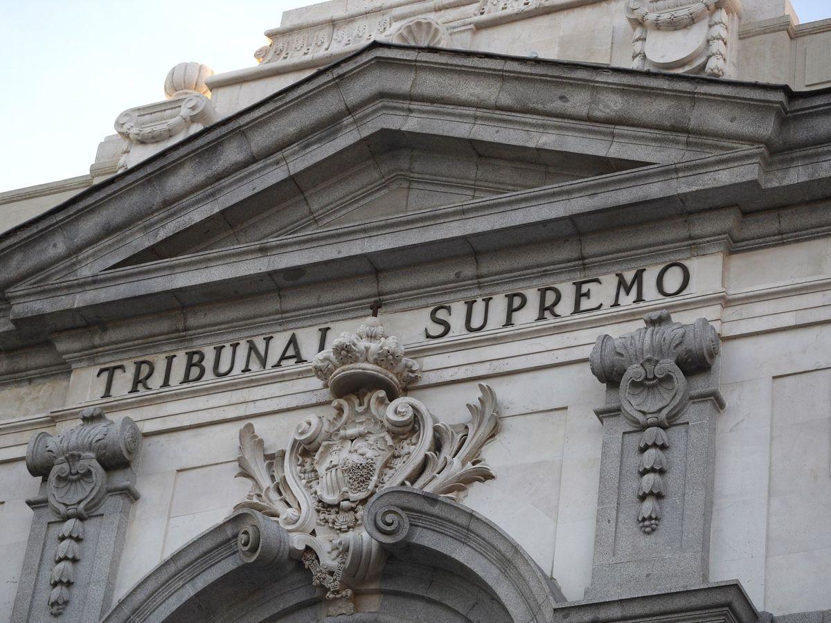 Foto: Detalle de la fachada del Tribunal Supremo (EFE)