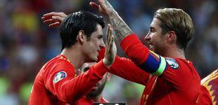 Post de El detalle de Sergio Ramos con Morata en la goleada de España a Suecia