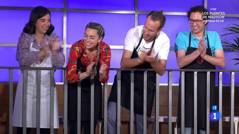 Meri, María, Arnau y Fran, en 'Masterchef'. (TVE)