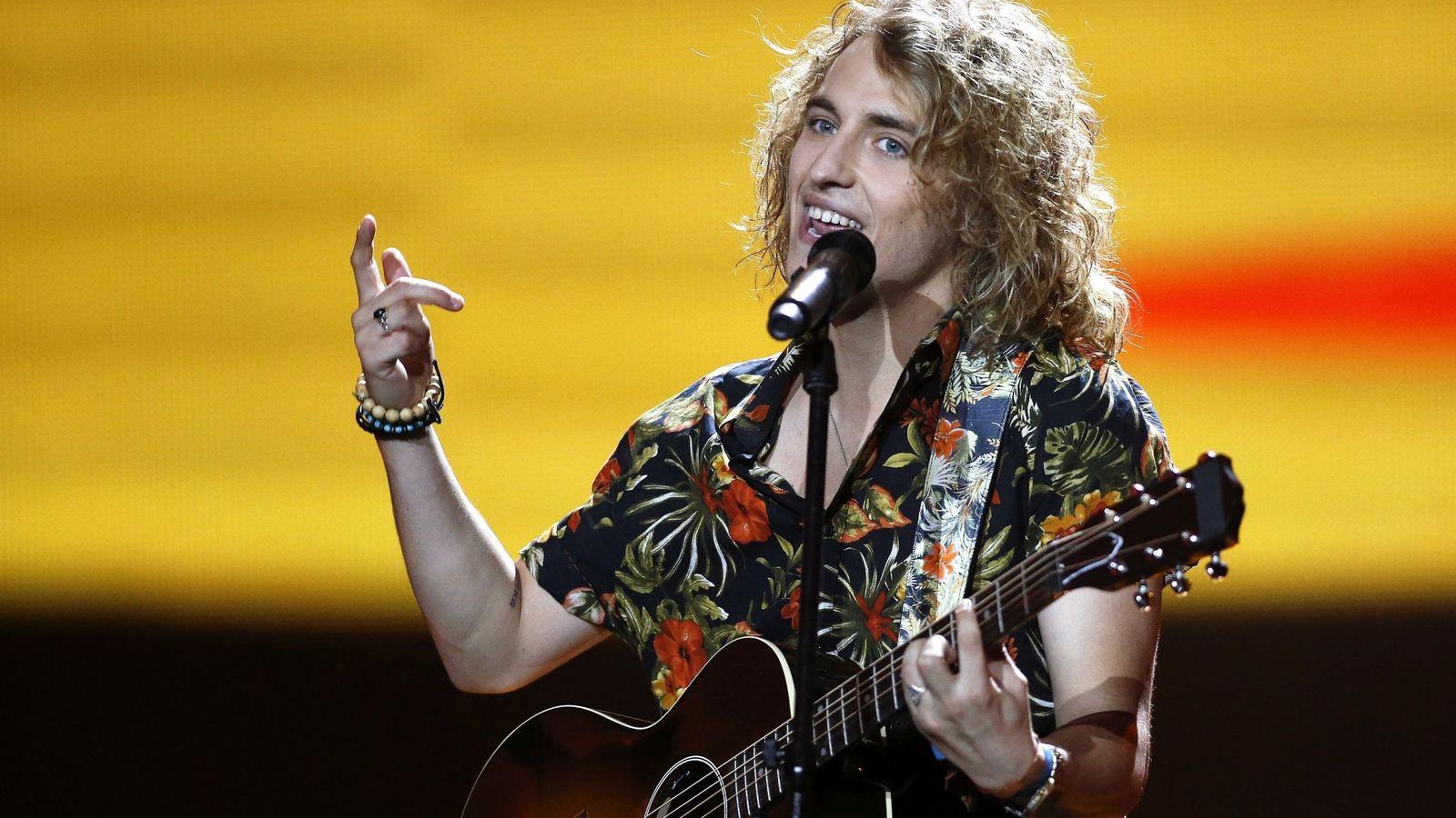 Foto: Manel Navarro durante su actuación en uno de los ensayos de Eurovisión 2017. (EFE)