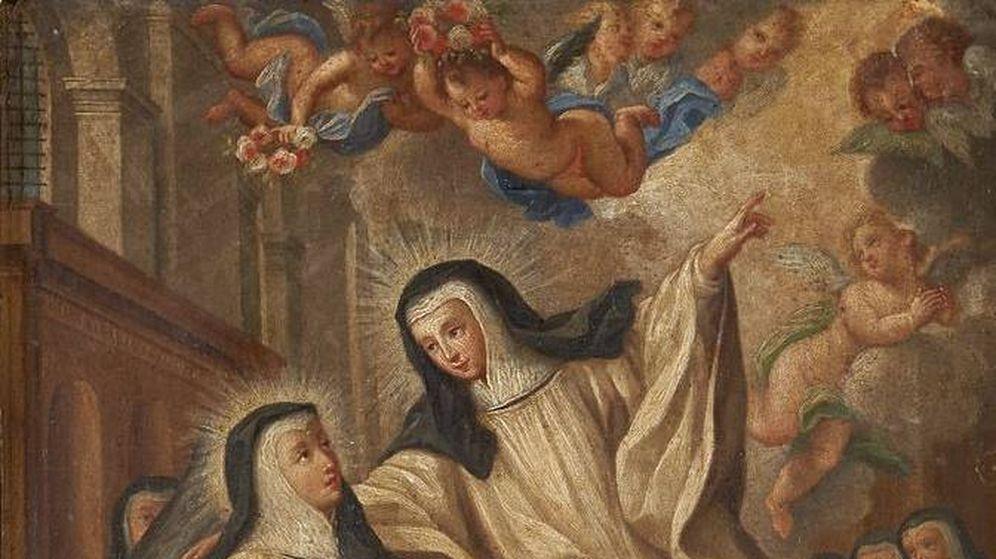 Foto: Imagen pictórica de Santa Teresa de Portugal en la iglesia de San Antonio de los portugueses (Wikipedia)