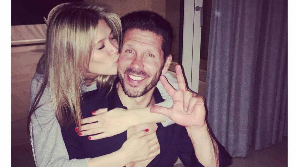 El Cholo Simeone y Carla Pereyra ya presumen de su hija en Instagram