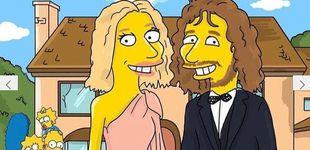 Post de ¡Mosquis! ¿Van a salir Carles Puyol y Vanesa Lorenzo en 'Los Simpson'?