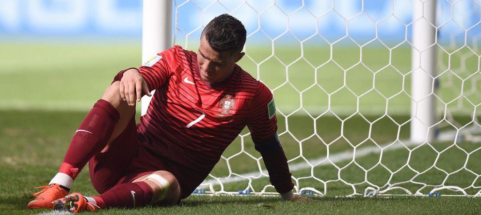 Foto: Cristiano Ronaldo durante el Portugal-Ghana (EFE)