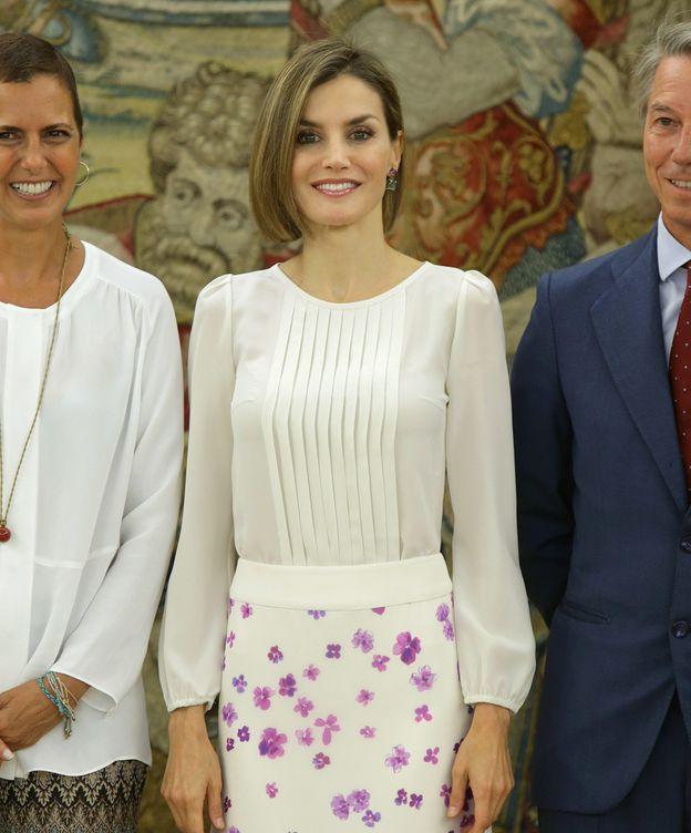 Foto: Doña Letizia durante las audiencias de este martes (Gtres)