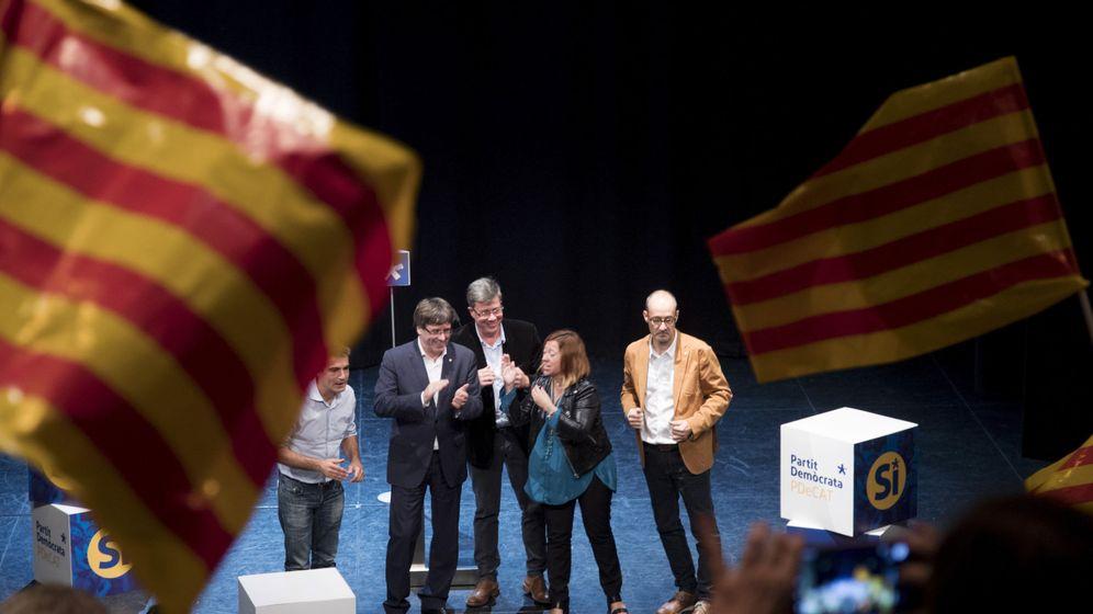 Foto: Puigdemont, en un acto a favor del referéndum. (EFE)