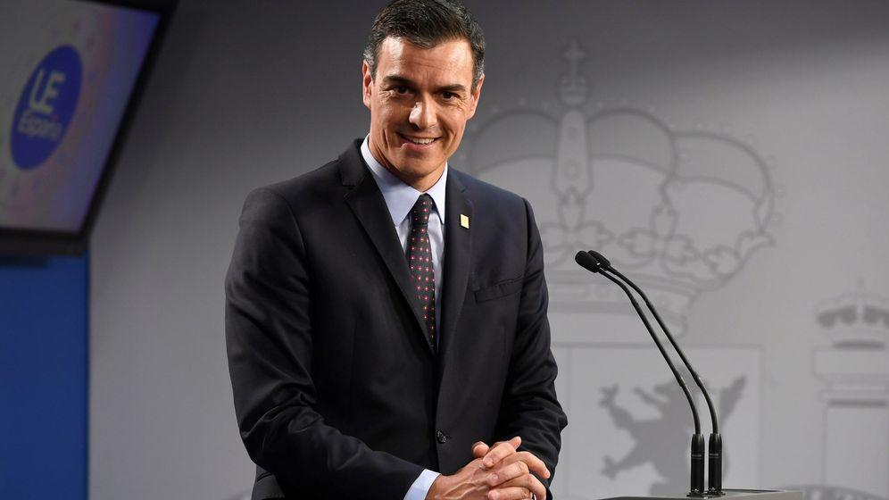 Foto: El presidente del Gobierno, Pedro Sánchez, en su comparecencia posterior al Consejo Europeo. (EFE)
