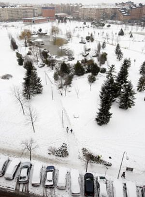 Un nuevo frente trae a la Península nieve, heladas y temperaturas de hasta -10º