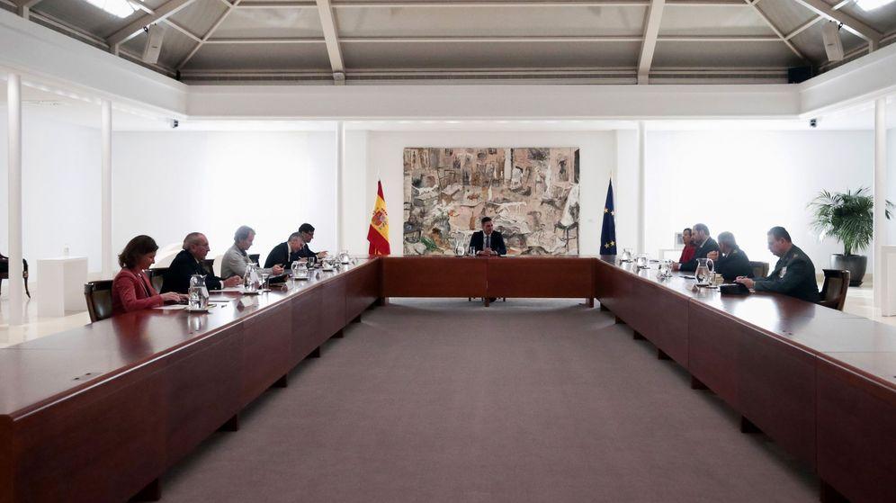 Foto: La reunión del Comité Técnico de Gestión del Coronavirus, este lunes. (EFE)