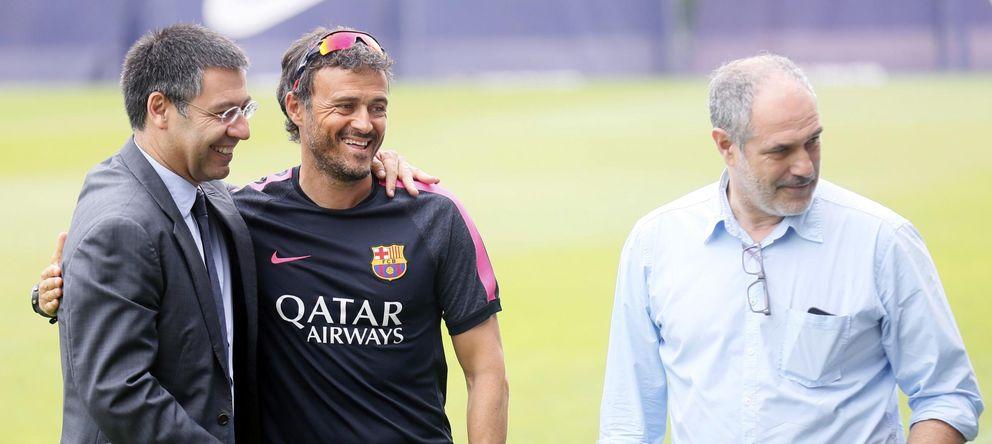 Foto: En la imagen, Bartoméu, Luis Enrique y Zubizarreta (Reuters)